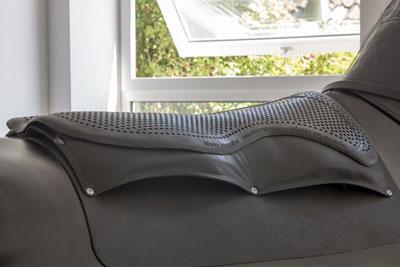 Reitsimulator Hannover - Foto von den Sitzsensoren